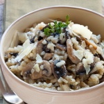 Mushroom risotto Cropped