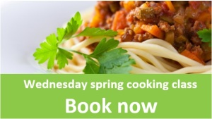 Spring wednesday twighlight cooking class book now
